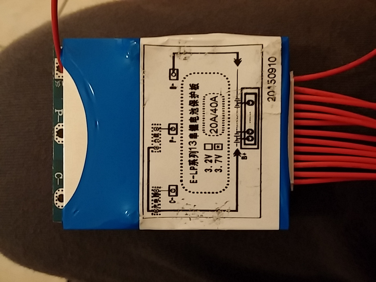 Schema Collegamento Bms : S a lifepo bms pcm pcb circuito di protezione della batteria
